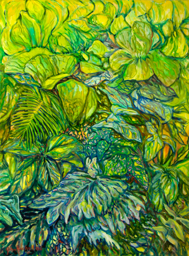 "©John Rachell  Title: The Garden, October 25, 2006 Image Size: 36"" w by 48"" d Dated: 2006 Medium and Support: Oil Paint on Canvas Signed: LL Signature"