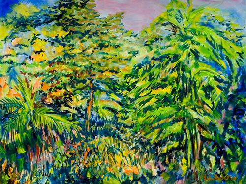 "©John Rachell  Title: Garden, June 20, 2006 Image Size: 40""w X 30""d Date: 2006 Medium & Support: Oil paint on canvas Signed: LR Signature"