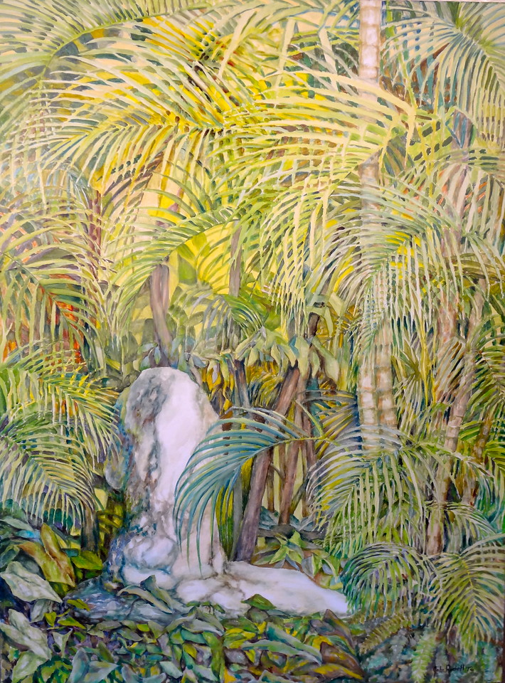"""© 2012 John Rachell Title: Garden, September 14, 2012 Image Size: 36"""" W by 48"""" D Dated: 2012 Medium and Support: Oil paint on canvas Signed: LR Signature"""