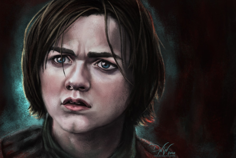 Digital portrait painting. (Game of Thrones fan art)