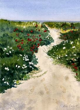 Pathway to the Beach - This painting is on the cover of a 