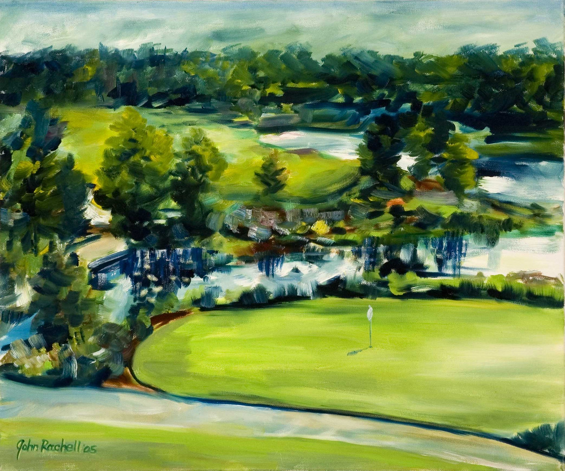 "©John Rachell  Title: Tiburon, Naples Image: 20""w X 24""d Dated: 2005 Medium & Support: Oil paint on canvas Signed: LL Signature"
