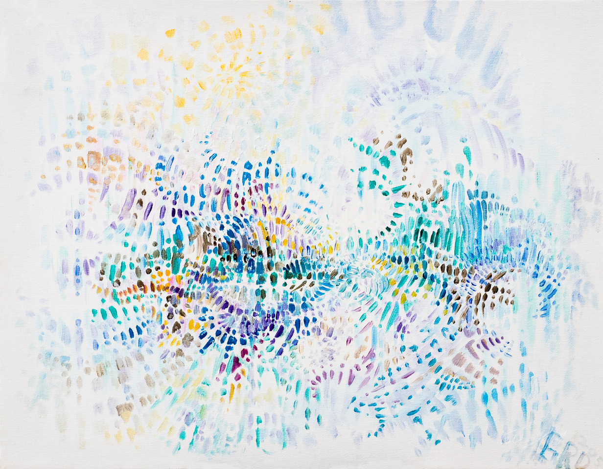 grd; attractors; oil on canvas; wvart; dot matrix 16