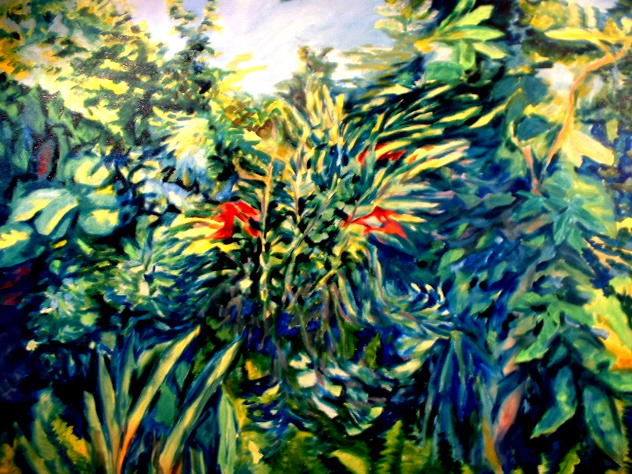 "©John Rachell Title: The Garden, June 10, 2005 Image Size: 36"" X 48"" Dated: 2005 Medium & Support: Oil on Canvas Signed: LL Signature"