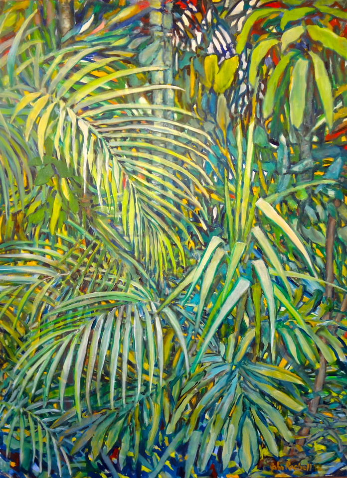 """© 2012 John Rachell Title: Garden, June 7, 2012 Image Size: 36"""" W by 48"""" D Dated: 2012 Medium and Support: Oil paint on canvas Signed: LR Signature"""