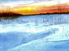 Sunrise on Snow - Such a wonderful photo from Canada to inspire me!