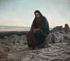 """Christ in the Wilderness"" (after Ivan Kramskoi)"