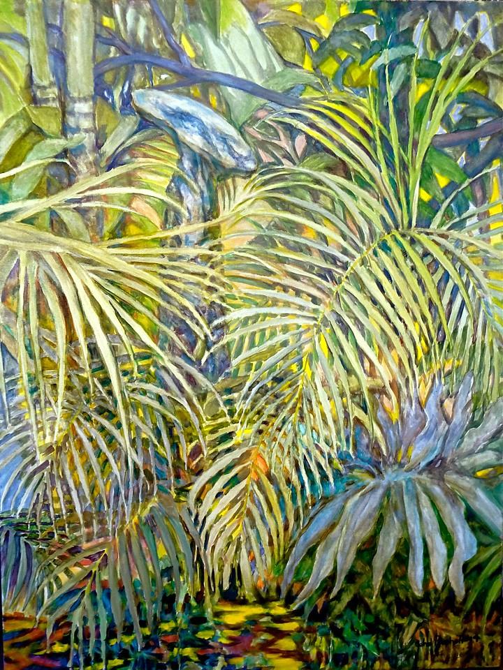 "©John Rachell  Title: Pedestal Image: 30""w x 40""d Dated: 2014 Medium & Support: Oil paint on canvas Signed: LR Signature"