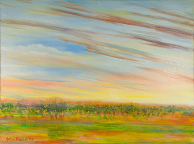 "©John Rachell  Title: Sky, September 21, 2006 Image Size: 48"" w by 36"" d Dated: 2006 Medium and Support: Oil Paint on Canvas Signed: LL Signature"
