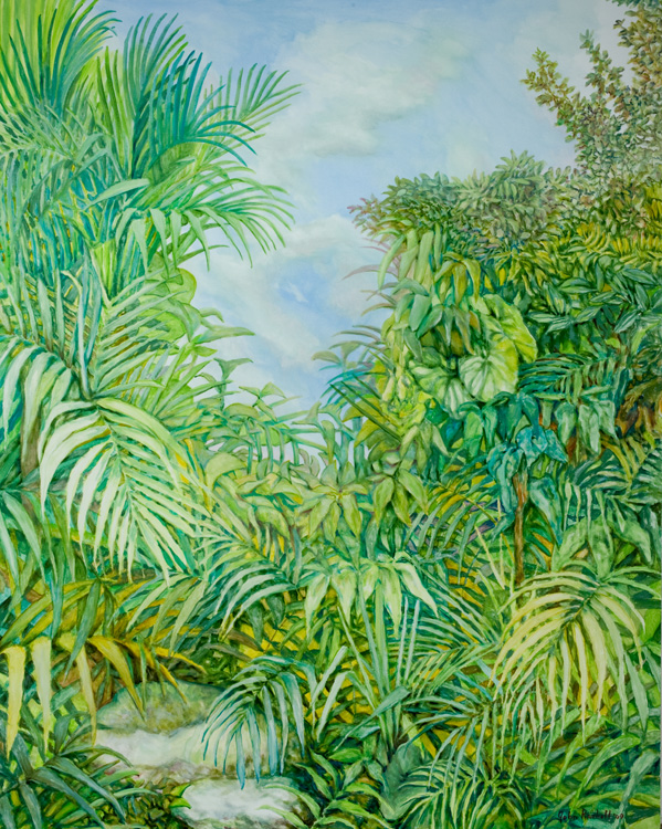 "© 2009 John Rachell Title: Garden, September 16, 2009 Image Size: 48"" w by 60"" d Dated: September 16, 2009 Medium & Support: Oil n canvas Signed: LR Signature"