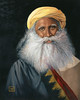 An original oil painting of Sadhguru Jaggi Vasudev, Indian mystic, yogi, and guru from Coimbatore, Tamil Nadu, India.