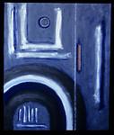 "<center>Ship Shape, 1999 acrylic on canvas 24""x20"" All paintings © R. Meadows-Rogers</center>"