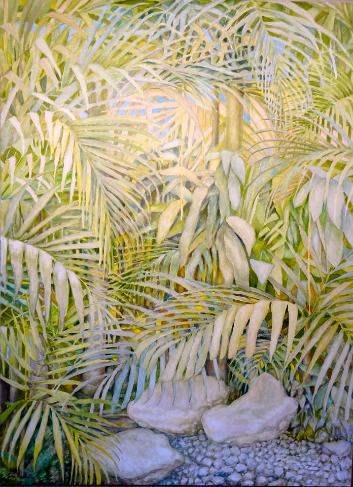 "© 2012 John Rachell Title: Garden, May 16, 2012 Image Size: 36"" W by 48"" D Dated: 2012 Medium and Support: Oil paint on canvas Signed: LR Signature"