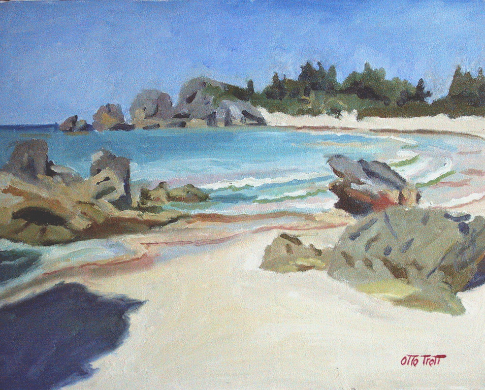Horseshoe Bay from east Painting