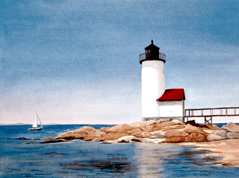 Annisquam Lighthouse - The perfect lighthouse to paint!