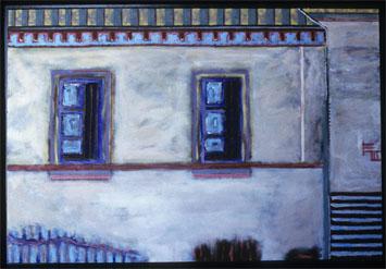 "<center>Nonmonumental, ca. 1999 acrylic on canvas 24""x36"" All paintings © R. Meadows-Rogers</center>"