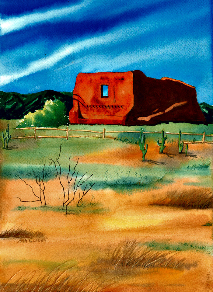 Pueblo Hut in New Mexico