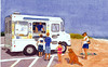 Ice Cream Truck<br /> A familiar sight at all the beaches on the Cape.