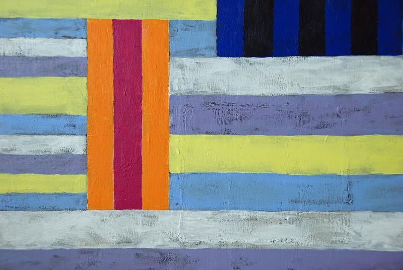 "Merci, Marthe e Pierre, <br /> 24"" x 30""<br /> Acrylic on canvas (detail)"