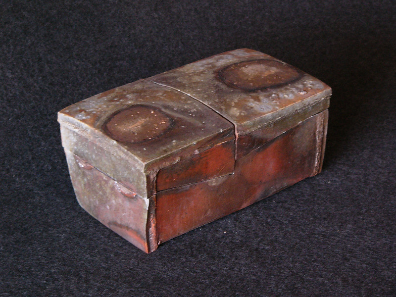 Retangular two lidded box