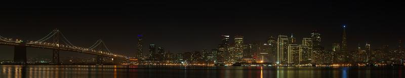 The San Francisco Skyline captured on December 17th, 2011