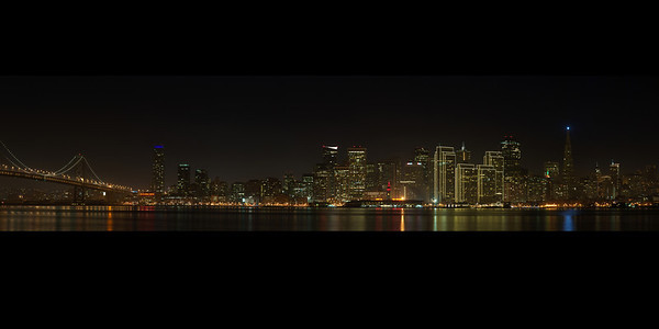 The San Francisco Skyline captured on December 17th, 2011  Use this image for 10x20 Prints