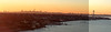 StitchedPanoNYC Skyline And Whitestone Bridge Winter Sunsetx