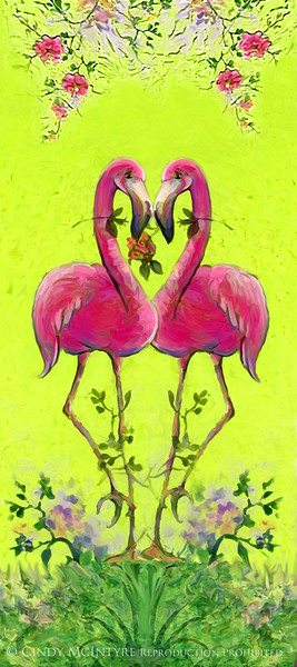 Flamingo HeartPainted copy