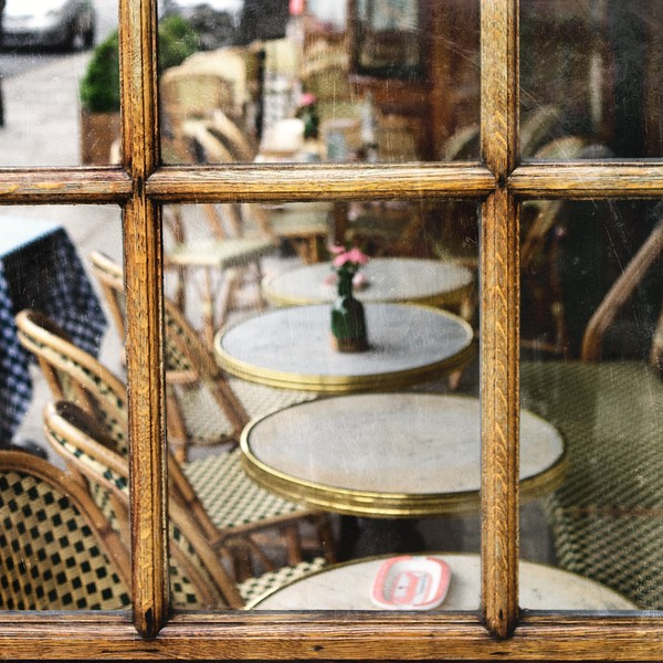 Paris café window
