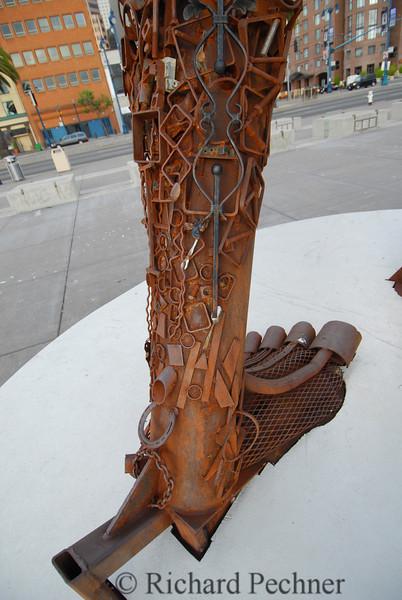 Detail of left foot/lower leg