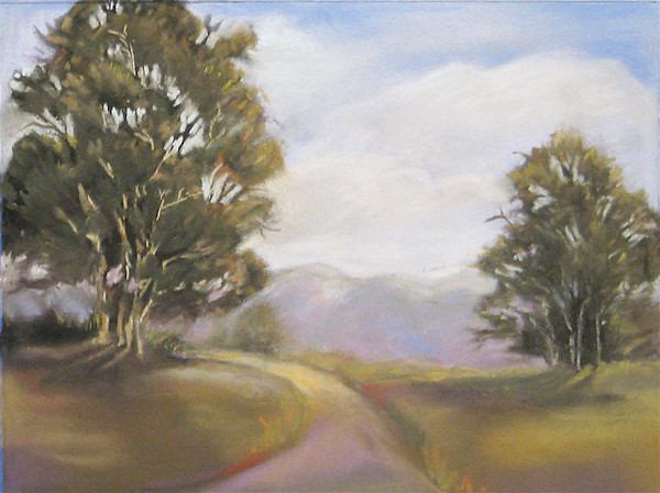 "<h2> Ojai Trail </h2>  Pastel on Paper  12"" x 15"""