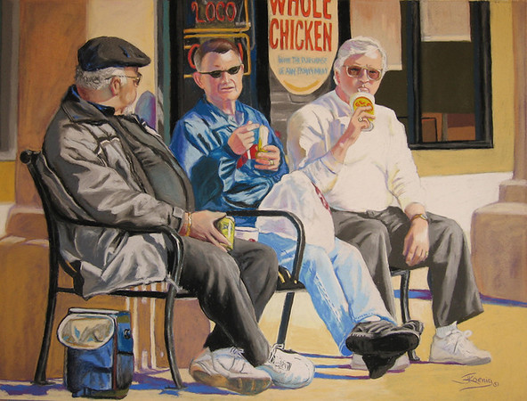 "<h2> Out to Lunch </h2>  Pastel on Paper  18"" x 24"""