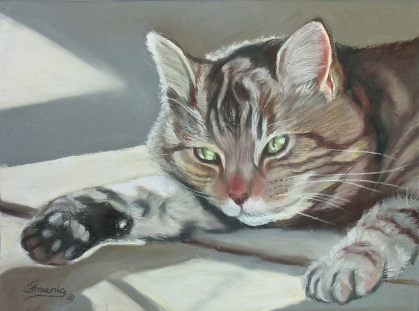 """Waiting""  Original pastel on sanded paper 12"" h x 14"" w   NFS"