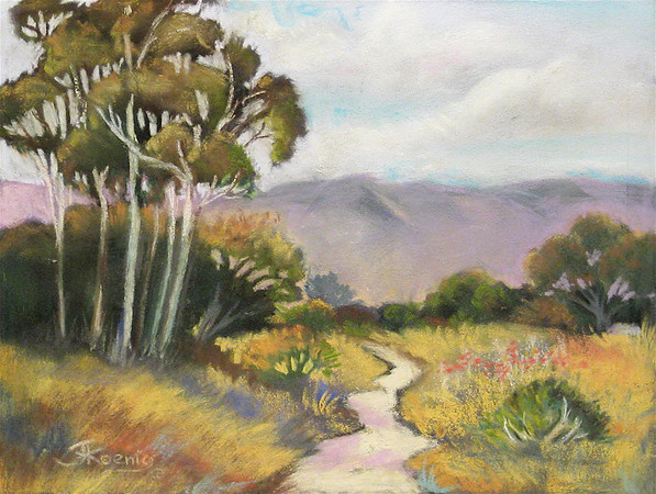 "<h2> Ojai Trail II </h2>  Pastel on Paper  12"" x 15"""