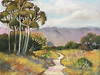 "<h2> Ojai Trail II </h2>  Pastel on Paper  12"" x 15"""