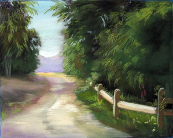 <h2> Malibu Trail </h2>  Pastel on Paper
