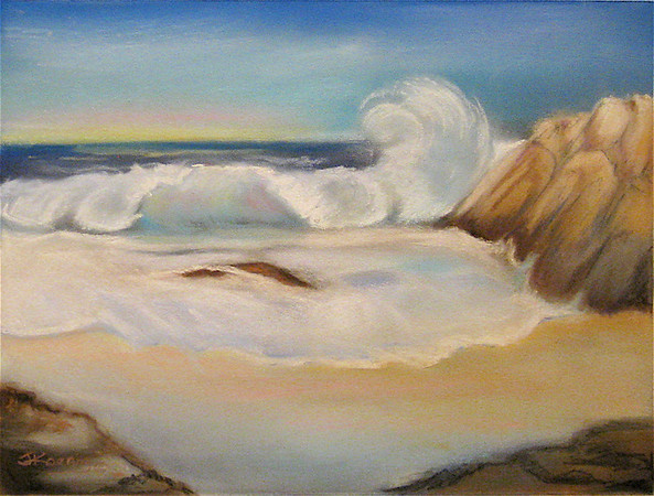 "<h2> Ocean View </h2>  Pastel on Paper  12"" x 15"""