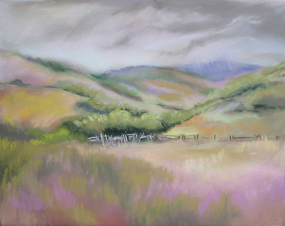 "<h2> McKInely's Meadow </h2>  Pastel on Paper  12"" x 15"""