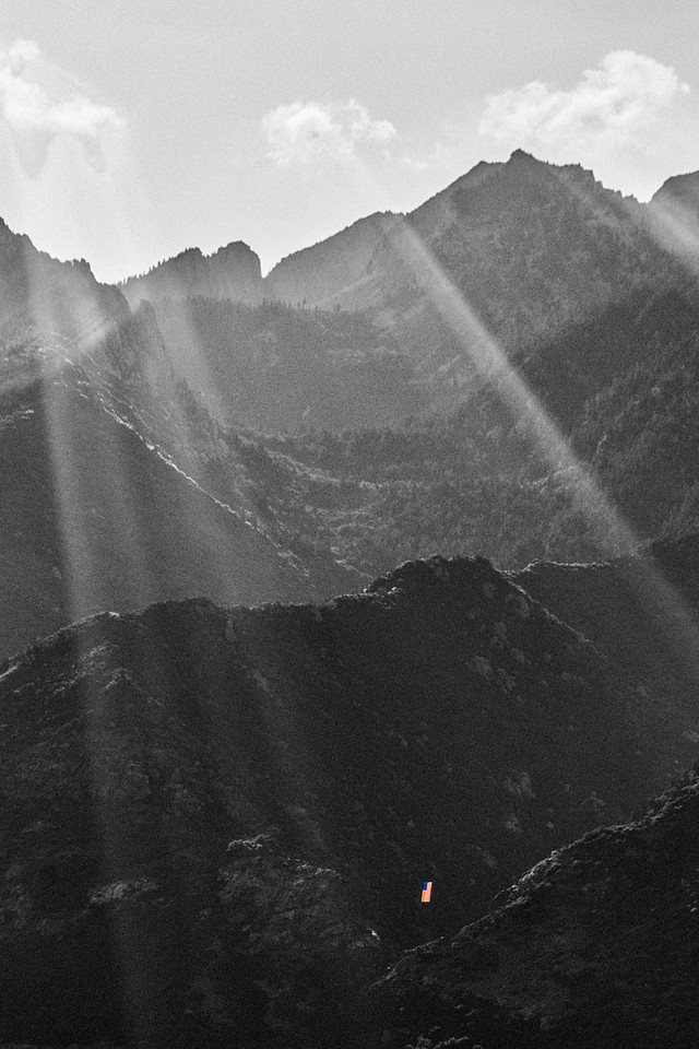 old glory and lone peak