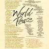 "World Peace<br /> Walnut and acrylic inks and gouache<br /> 2009<br /> <br /> From the ""Five Notebooks of Peace"" series, authors offer some well-chosen words of guidance towards a way of life that includes everyone and everything."