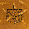 Shalom-Salaam-Peace<br /> Walnut ink on handmade paper<br /> 2009<br /> <br /> This one started all the series years ago, when a quilter commissioned a design for her post-9/11 installation in Hebrew, Arabic and English.  All the difficulties and desires of peacemaking became evident and coalesced into this pattern.  Where is the place for the role of the mediator? Where should English be in relation to Hebrew and Arabic?  Not above, as we are used to being; not between, as patriarchs; but below, supporting the direct interaction of the warring parties.  Here I understood the difficulty of the US role as peace negotiator.  How do the traditions communicate? Why does every language have a word for peace?  What does real peace mean to each?  How can each language see each other?    Where is the balance that allows peace to thrive? <br /> In Egypt, I showed this to an Arabic calligrapher to be sure my intent was clear.