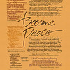 "Become Peace<br /> Walnut and acrylic inks and gouache<br /> 2009<br /> <br /> From the ""Five Notebooks of Peace"" series, great authors offer ways to actualize the dream of being a peacemaker in a world of conflict."