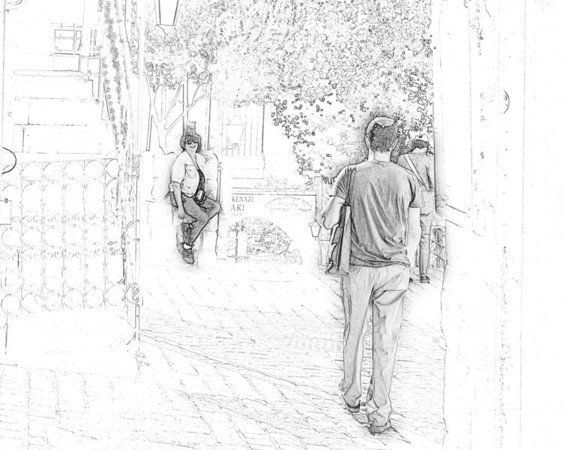 Old city, rendezvous, Safed, sketch
