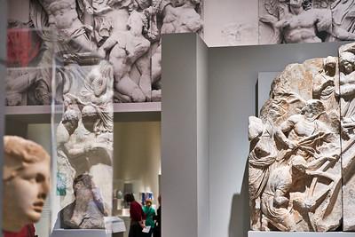 May 7, 2016 - New York, NY  Met Costume Institute Pergamon, Manus ex Machina, Cornelia Parker Transitional Object (Met roof - Psycho house)