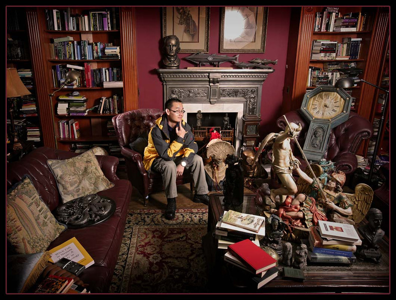 This is Guillermo del Toro's living room... but the whole house was just like this!