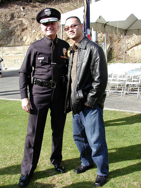 Los Angeles Police Chief William Bratton at the LAPD Academy in Elysian Park.