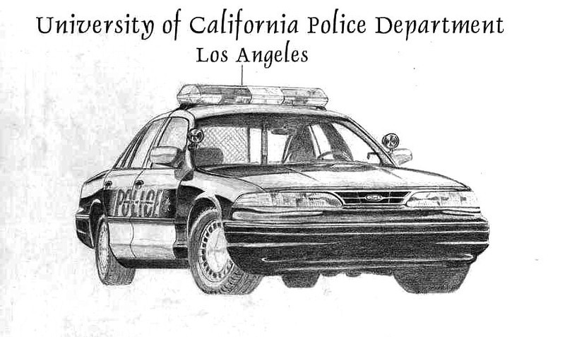 To celebrate UCPD's 50th anniversary, I drew this while I worked there. A select few officers have framed copies. Unfortunately, and ironically, the original was stolen.