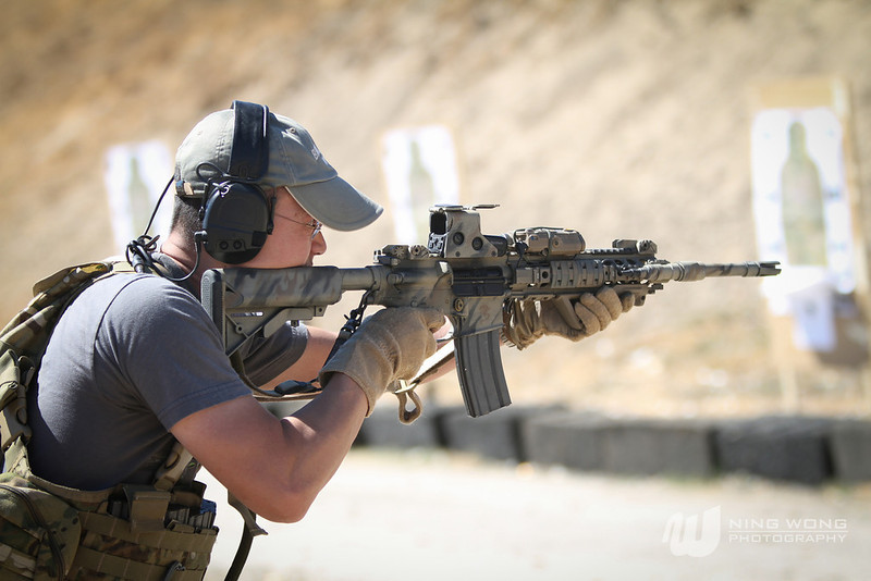 I like to shoot, and not just cameras. Here I'm taking a carbine course to learn and develop from the pros.<br /> <br /> Photo by Ning Wong