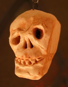 One of Aaron's Amazing Porcelain Skulls $20 ea. Guaranteed to last 600 years or your money back