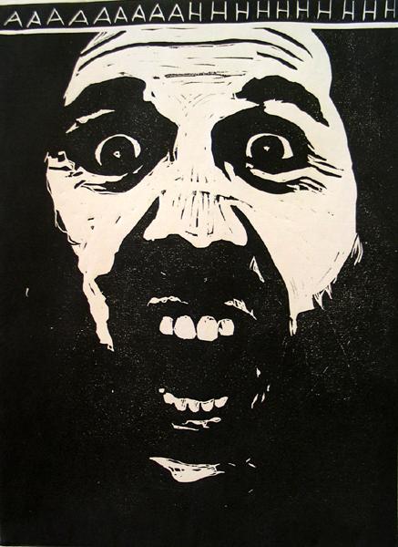 "Jeff Kopish ""AAHHHH"" Provincetown Fine Arts Work Center Scroll"